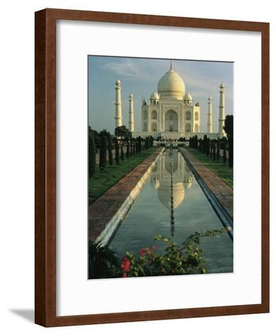 The Taj Mahal with a Reflection of the Tomb on the Surface of a Pool-Ed George-Framed Art Print