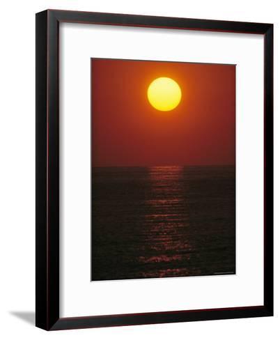 A Golden Sunset on the Water-Raul Touzon-Framed Art Print