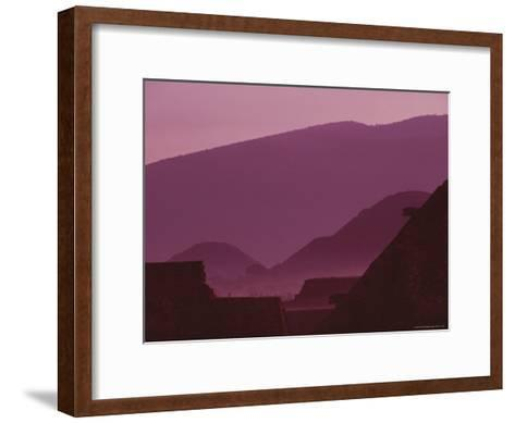 Early Morning View of Teotihuacan with Cerro Gordo in the Background-Kenneth Garrett-Framed Art Print