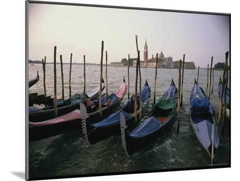 Gondolas at Anchor Line a Shore-Ed George-Mounted Photographic Print