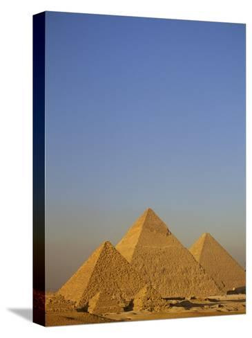 A View of the Great Pyramids of Giza-Kenneth Garrett-Stretched Canvas Print