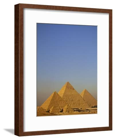 A View of the Great Pyramids of Giza-Kenneth Garrett-Framed Art Print