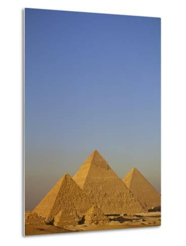 A View of the Great Pyramids of Giza-Kenneth Garrett-Metal Print