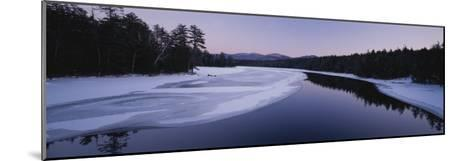 Twilight View of the Second Pond of the Lower Saranac Lake-Michael Melford-Mounted Photographic Print