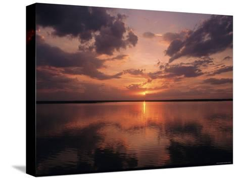 A Sunset in Los Llanos, Venezuela-Ed George-Stretched Canvas Print