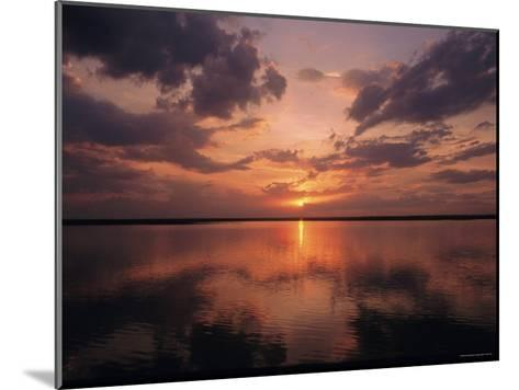 A Sunset in Los Llanos, Venezuela-Ed George-Mounted Photographic Print