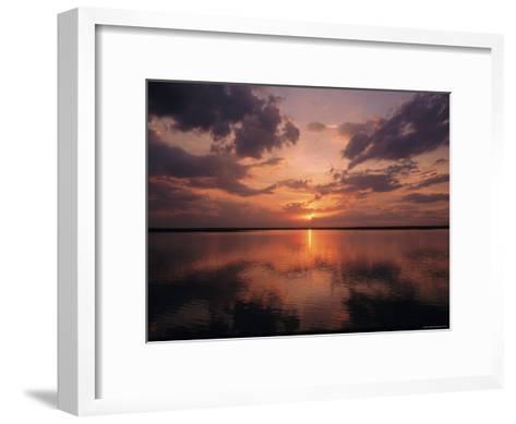 A Sunset in Los Llanos, Venezuela-Ed George-Framed Art Print