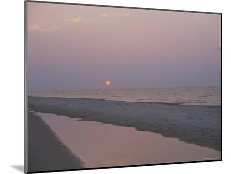 Sunrise over the Gulf of Mexico and an Alabama Beach-Medford Taylor-Mounted Photographic Print