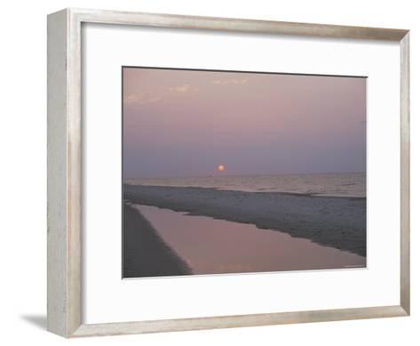 Sunrise over the Gulf of Mexico and an Alabama Beach-Medford Taylor-Framed Art Print