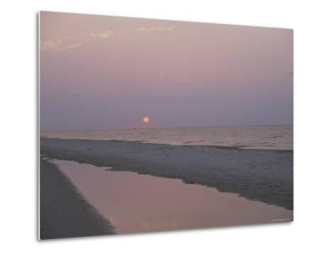Sunrise over the Gulf of Mexico and an Alabama Beach-Medford Taylor-Metal Print