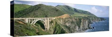 Bixby Bridge over Bixby Creek, Along Highway 1, and Hurricane Point-Rich Reid-Stretched Canvas Print