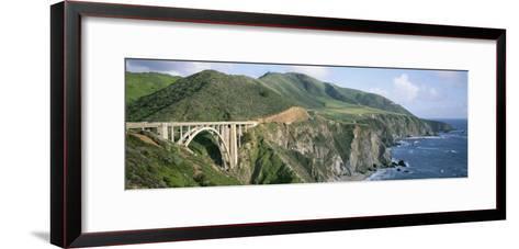 Bixby Bridge over Bixby Creek, Along Highway 1, and Hurricane Point-Rich Reid-Framed Art Print