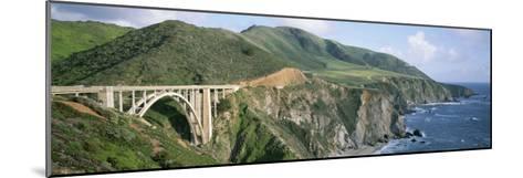 Bixby Bridge over Bixby Creek, Along Highway 1, and Hurricane Point-Rich Reid-Mounted Photographic Print