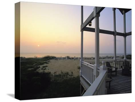 View of Sunset from the Deck of a Beach Cottage-Steve Winter-Stretched Canvas Print