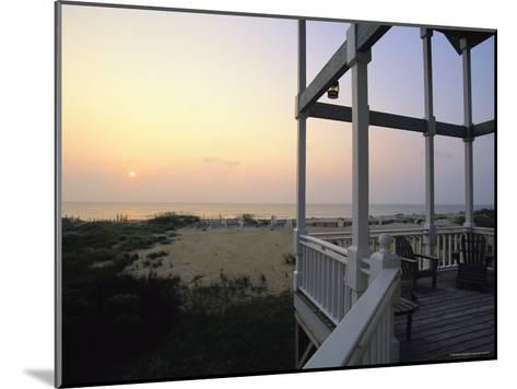 View of Sunset from the Deck of a Beach Cottage-Steve Winter-Mounted Photographic Print