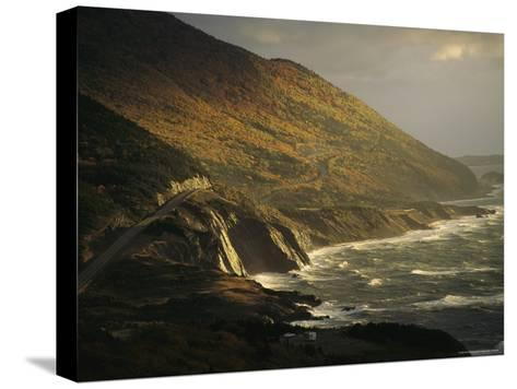 The Cabot Trail Winds its Way Along the Gulf of St. Lawrence-Raymond Gehman-Stretched Canvas Print