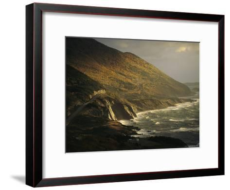 The Cabot Trail Winds its Way Along the Gulf of St. Lawrence-Raymond Gehman-Framed Art Print