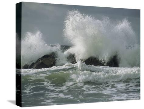Wild Breakers Crash against the Rocky Outcrops of Cape Breton-Raymond Gehman-Stretched Canvas Print