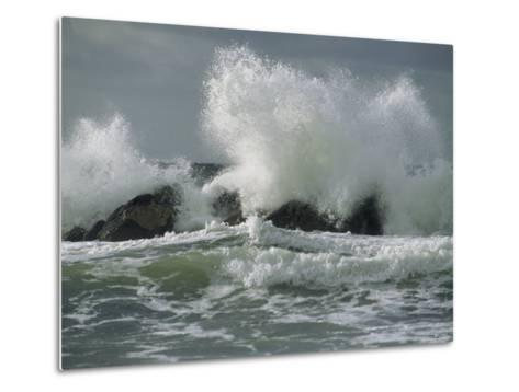 Wild Breakers Crash against the Rocky Outcrops of Cape Breton-Raymond Gehman-Metal Print