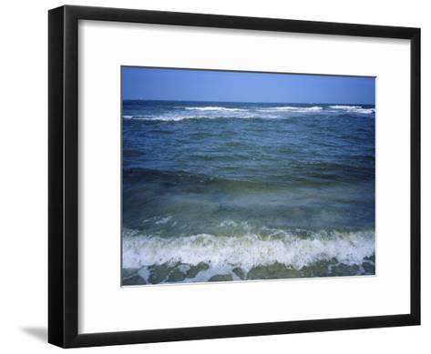 Atlantic Ocean Waves Breaking Toward the Beach-Vlad Kharitonov-Framed Art Print