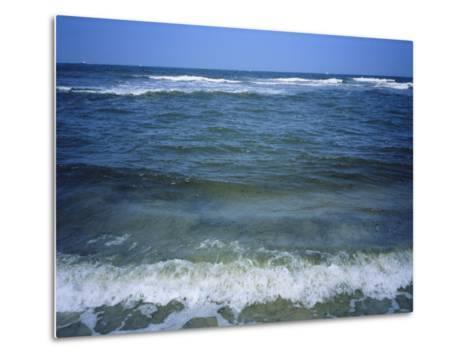 Atlantic Ocean Waves Breaking Toward the Beach-Vlad Kharitonov-Metal Print