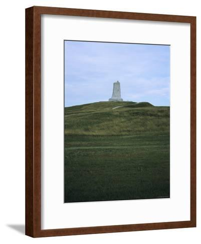 Distant View of the Wright Brothers National Monument-Vlad Kharitonov-Framed Art Print