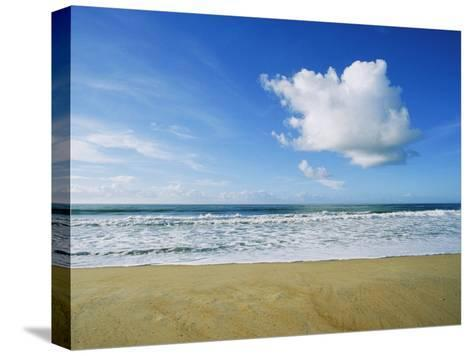 Beach, Ocean, Sky, and Clouds Above Cape Hatteras--Stretched Canvas Print