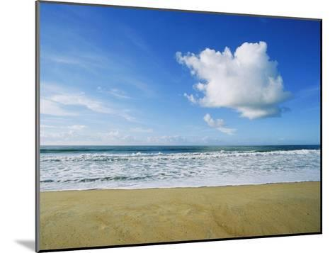 Beach, Ocean, Sky, and Clouds Above Cape Hatteras--Mounted Photographic Print