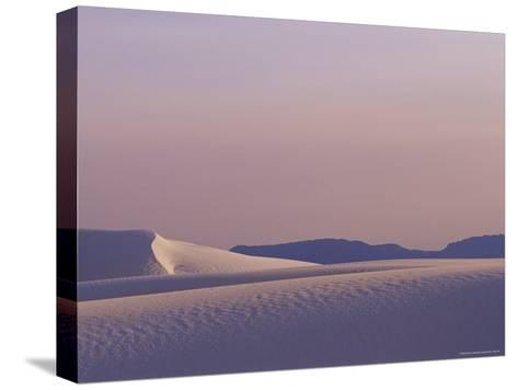 A Large Expanse of Sand Dunes in White Sands National Monument-Raul Touzon-Stretched Canvas Print