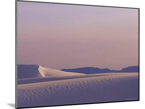A Large Expanse of Sand Dunes in White Sands National Monument-Raul Touzon-Mounted Photographic Print