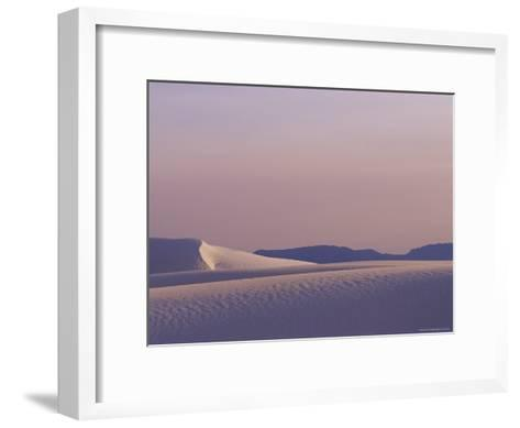 A Large Expanse of Sand Dunes in White Sands National Monument-Raul Touzon-Framed Art Print