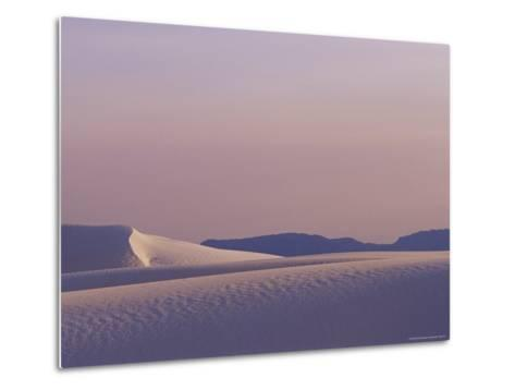 A Large Expanse of Sand Dunes in White Sands National Monument-Raul Touzon-Metal Print
