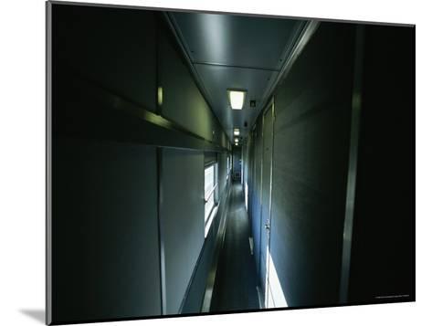 Narrow Hallway in Sleeper Car on Board Via Rail Canada Train-Todd Gipstein-Mounted Photographic Print