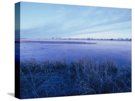 The Platte River in Central Nebraska-Joel Sartore-Stretched Canvas Print