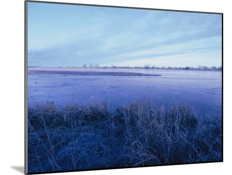 The Platte River in Central Nebraska-Joel Sartore-Mounted Photographic Print