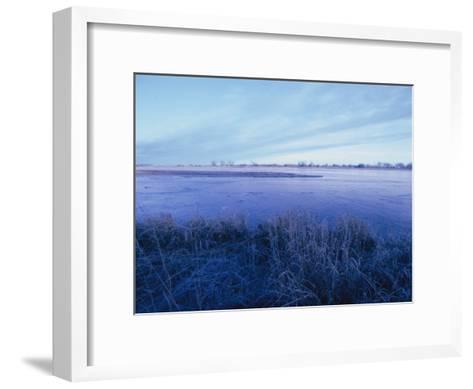 The Platte River in Central Nebraska-Joel Sartore-Framed Art Print