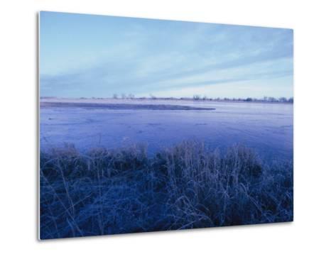 The Platte River in Central Nebraska-Joel Sartore-Metal Print