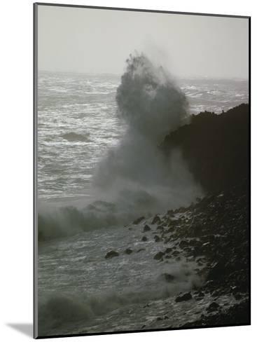 A Wave Splashes on the Shore of Tristan Da Cunha Island-James P^ Blair-Mounted Photographic Print