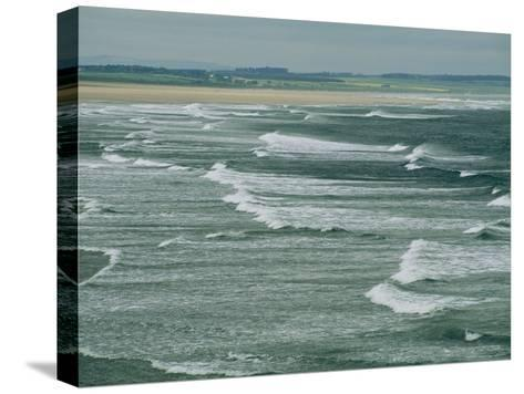 Surf at the North End of Lindisfarne, England-Sisse Brimberg-Stretched Canvas Print
