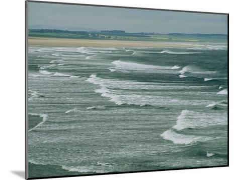 Surf at the North End of Lindisfarne, England-Sisse Brimberg-Mounted Photographic Print