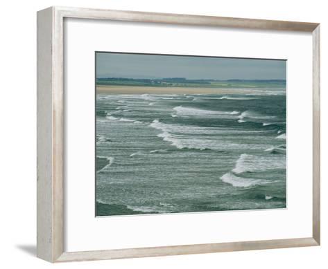 Surf at the North End of Lindisfarne, England-Sisse Brimberg-Framed Art Print