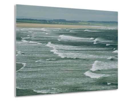Surf at the North End of Lindisfarne, England-Sisse Brimberg-Metal Print