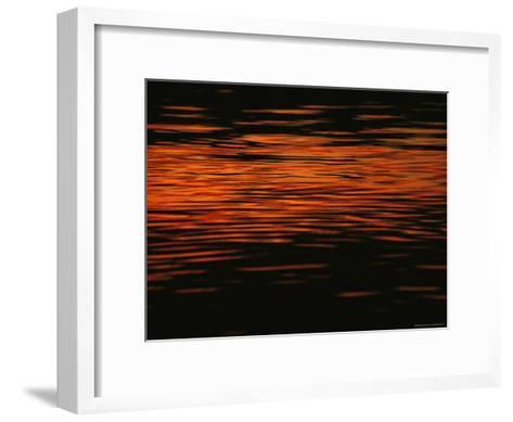 Sunset is Reflected in the Mackenzie River-Raymond Gehman-Framed Art Print