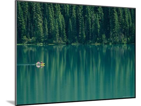Canoeing on Still Water of Yoho National Parks Emerald Lake-Michael Melford-Mounted Photographic Print