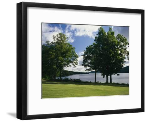 A Scenic View of Otsego Lake Near Cooperstown, New York-Raymond Gehman-Framed Art Print