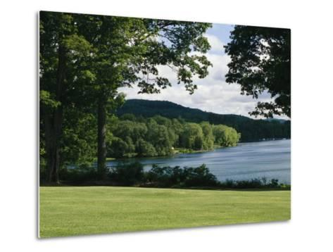 A Scenic View of Otsego Lake Near Cooperstown, New York-Raymond Gehman-Metal Print