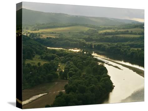 Farms Along the Susquehanna River Near the Endless Mountains-Raymond Gehman-Stretched Canvas Print