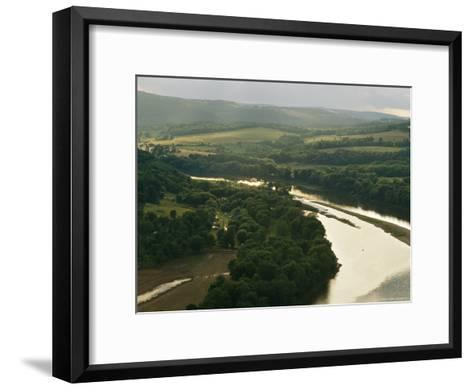 Farms Along the Susquehanna River Near the Endless Mountains-Raymond Gehman-Framed Art Print