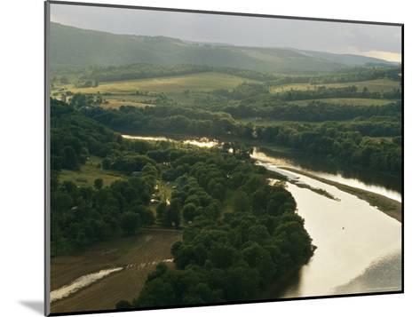 Farms Along the Susquehanna River Near the Endless Mountains-Raymond Gehman-Mounted Photographic Print