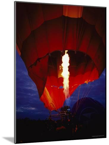 A Gas Jet Flame Heating Air for a Hot Air Balloon at Dawn-Jason Edwards-Mounted Photographic Print